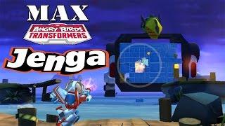 getlinkyoutube.com-Angry Birds Transformers - Jenga Mode All Characters MAX Level Gameplay #20