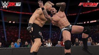getlinkyoutube.com-WWE 2K16 Randy Orton returns & Destroys Brock Lesnar RAW July 11, 2016 (Custom Scenario)