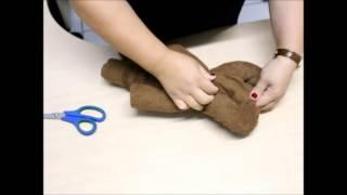 getlinkyoutube.com-Como Fazer um Urso com Toalha de Banho.
