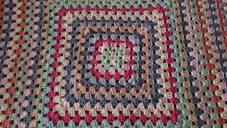 getlinkyoutube.com-VERY EASY crochet granny square blanket - never ending crochet granny square baby blanket