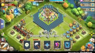 getlinkyoutube.com-Castle Clash: HBM S  - No Vlad/Santa/Molta/DD