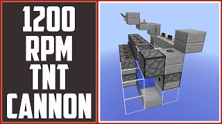 getlinkyoutube.com-600 RPM TNT Cannon - Fastest Firing Canning In Minecraft! [Minecraft Tutorial]