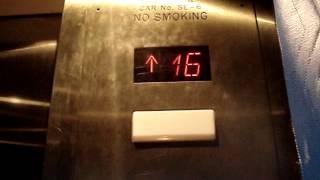 getlinkyoutube.com-Schindler 400A MRL Traction Service Elevators at Royal Sonesta Hotel in Houston, TX.