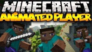 Minecraft: ANIMATED PLAYERS! (Realistic Movements!) | Mod Showcase