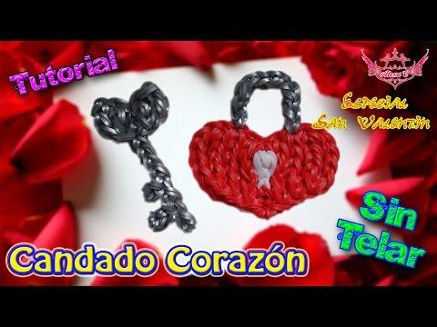 ♥ Tutorial: Candado de Corazón de gomitas (sin telar) ♥