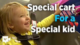 getlinkyoutube.com-Grocery store buys special cart for special kid