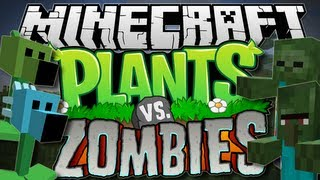 Minecraft | PLANTS vs ZOMBIES! (Pea Shooters Galore!) | Mod Showcase [1.6.2]