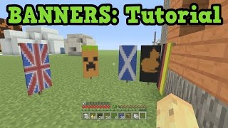 getlinkyoutube.com-Minecraft Xbox 360 / PS3 - Banner Tutorial (TU43 Banner Designs)