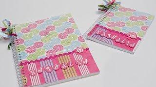 getlinkyoutube.com-Faça você mesma um caderno decorado