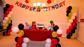 getlinkyoutube.com-Faça vc mesma   Torre de bolas com 4 cores e decoracao para festa