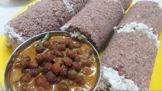 getlinkyoutube.com-Chamba Puttu Recipe,  Kerala Puttu With Kadala Curry, Breakfast Recipe in Tamil