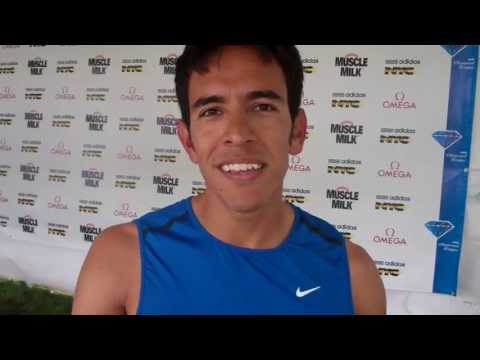 Olympic 1500 silver medalist Leo Manzano after finishing 8th in the 800 at 2013 adidas Grand Prix