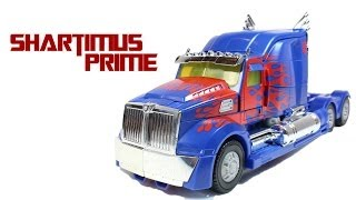getlinkyoutube.com-Transformers 4 Age of Extinction Optimus Prime Leader Class Retail Movie Action Figure Review