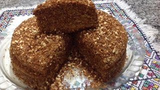 getlinkyoutube.com-كيكة العسل و اللوز الرائعة و الراقية بخطواة مع الشرح من المطبخ المغربي مع ربيعة Cake au Miel