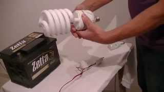 Como Fazer Um Carregador De Bateria Para Carro E Moto Caseiro Com Lampada Fluorescente