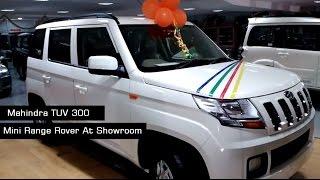 getlinkyoutube.com-Mahindra TUV300 White color   Interiors and Exteriors At Showroom   2017 India   More On Description