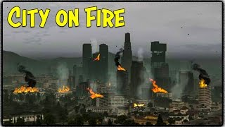 getlinkyoutube.com-GTA 5 Zombie Apocalypse Ep. 6 - THE CITY ON FIRE!