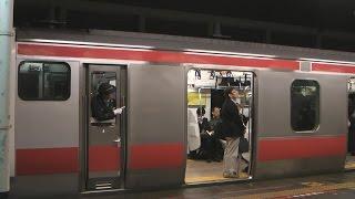 getlinkyoutube.com-[JR東日本 京葉線]舞浜駅 東京行き/蘇我行き普通電車 到着/発車(女性車掌)(Nov.20,2014)