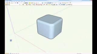 getlinkyoutube.com-Creating a radius on all corners of a cube  in sketchup