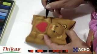 getlinkyoutube.com-Como hacer Ositos y Angelitos 3D de Fomi con Moldes Termoformado, Goma EVA HD Flores