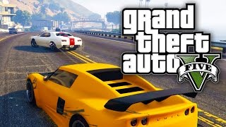 getlinkyoutube.com-GTA 5 Online - STOLEN CARS & STREET RACES! (GTA V Online)