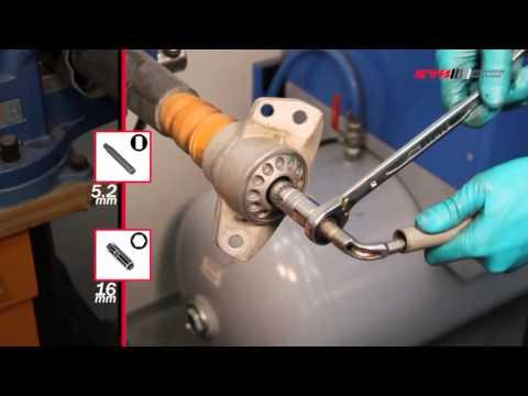 AUDI A6, A4, A5, Q5, A7 - REAR - Задние амортизаторы KYB установка