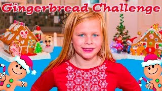 getlinkyoutube.com-ASSISTANT Gingerbread House Contest with Mickey Mouse+ Minnie Mouse Funny Challenge Video