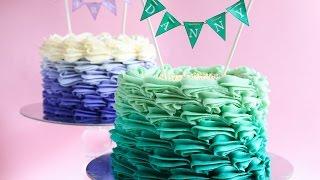 getlinkyoutube.com-Buttercream Ombre Cake Tutorial