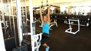 3 Ways to Work Your Back and Arms With the Lat Pull Machine | Fitness How To