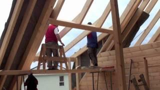 getlinkyoutube.com-170 qm Blockhaus bauen mit Richtmeister in 11 Tagen fertig Building a log home cabin