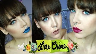 getlinkyoutube.com-Lime Crime Swatches , Trio Buffy Beet IT Peacock ,Jinx ,Snow Sickle and lazuli
