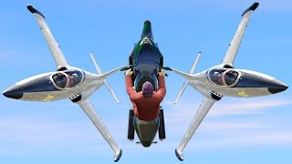 getlinkyoutube.com-FLYING BIKE BETWEEN TWO JETS! (GTA 5 Funny Moments)