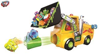 getlinkyoutube.com-THE TRASH PACK Load 'N Launch Bulldozer Playset TOYS VIDEO Review