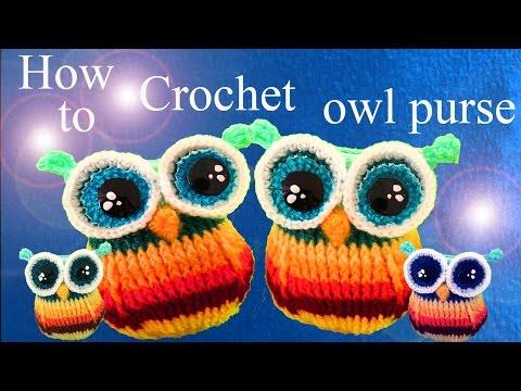 Monedero tejido a Crochet en forma de  búho bebé ideas para regalar a Mamá