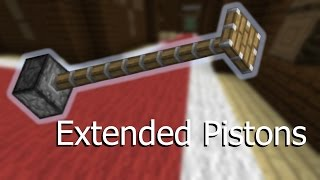 Extended Pistons -- Vanilla Minecraft 1.11 Command Blocks