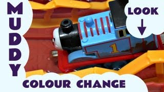 getlinkyoutube.com-Thomas And Friends Muddy Adventure Take N Play Colour Change Set Kids Toy Train Thomas The Tank
