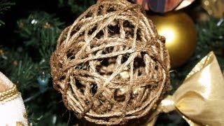 getlinkyoutube.com-Adornos para el Árbol de Navidad 4: Esferas de Hilo - Christmas Tree Decoration 4: Thread Spheres