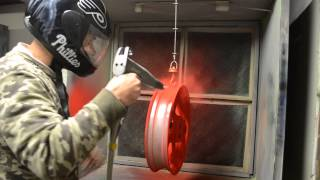 getlinkyoutube.com-Powder Coating Motorcycle Wheels Passion Red