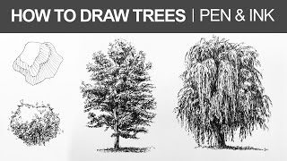 getlinkyoutube.com-How to Draw Trees with Pen and Ink