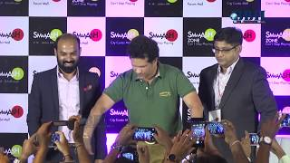 Sachin Tendulkar interacted with the winners of bowling tournament & relaunched Smaaash  Center