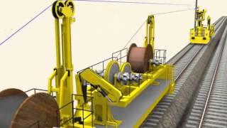 getlinkyoutube.com-Modern catenary installation