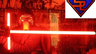 getlinkyoutube.com-Star Wars The Force Awakens Black Series Force FX Kylo Ren Deluxe Lightsaber Collectible Review