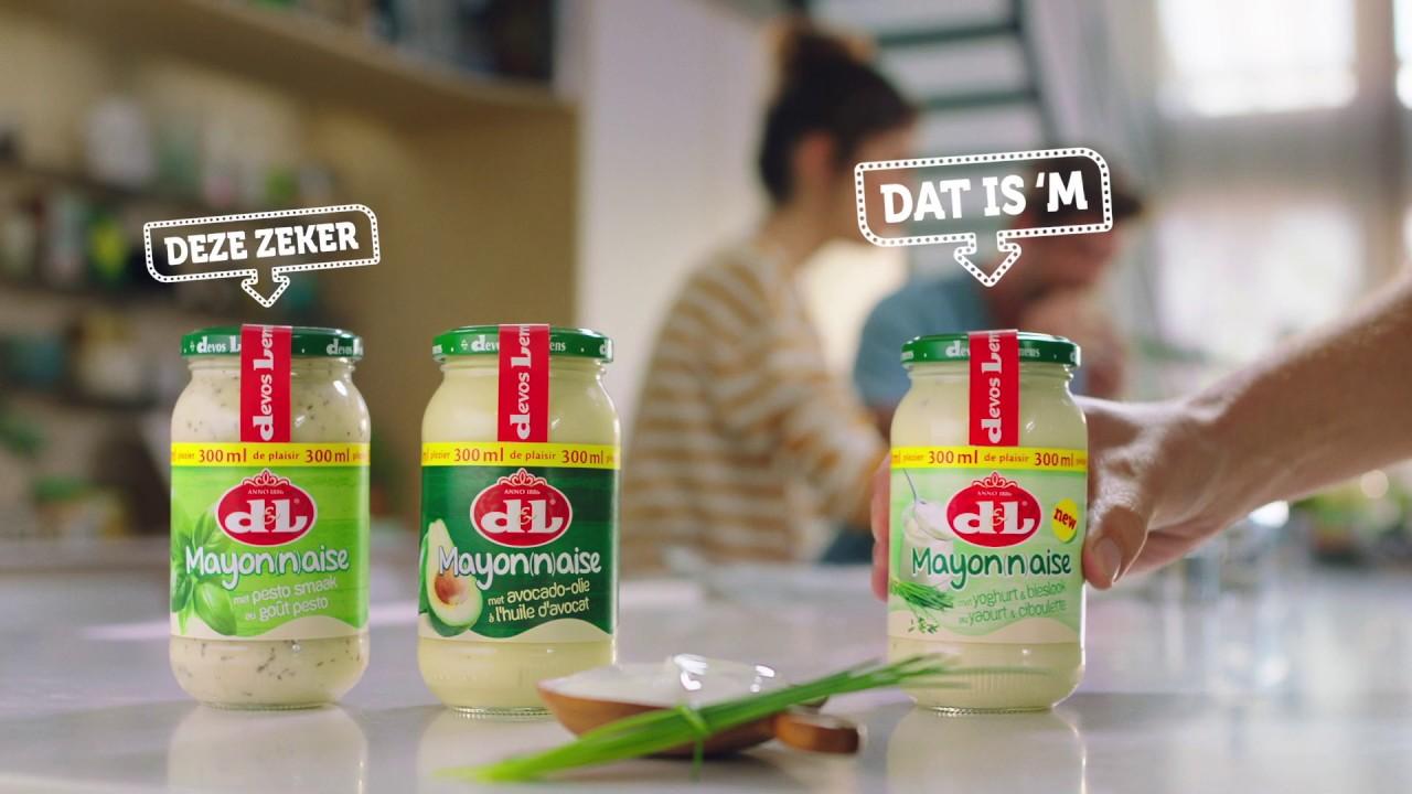 Mayonaise met een frisse toets: nu ook met yoghurt & bieslook! Ontdek de heerlijke mayonaise van Devos & Lemmens.