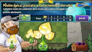 getlinkyoutube.com-Plants vs Zombies 2: Misión Épica | Florecimiento Dorado (Nueva Planta)
