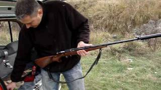 "getlinkyoutube.com-.22 Rifle CZ-513""Farmer"" with a suppressor"