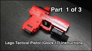 getlinkyoutube.com-Lego Tactical Pistol (Glock 17) Instructions Part 1 of 3
