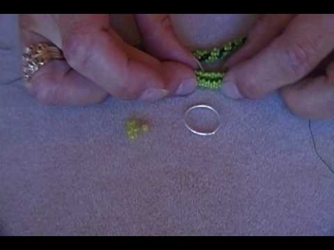 Beaded Toggle Clasp Part 1