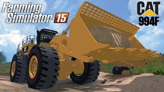 getlinkyoutube.com-Farming Simulator 2015 mod loader CAT 994F FOR MINING