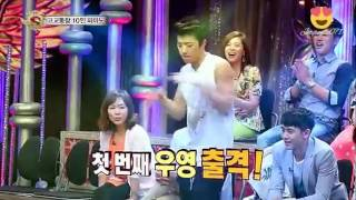 getlinkyoutube.com-2PM Wooyoung,Nichkhun,Taecyeon,Junho Dance at St4r K!ng - Junho Accidentally Break Studio Light