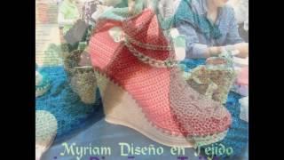 getlinkyoutube.com-Tejido de zapatos por Myriam Mora